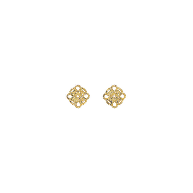 Mini Lace Deco Earrings - IV - RTS