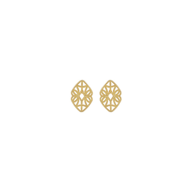 Mini Lace Deco Earrings - X