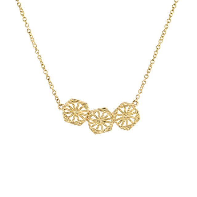 Triple Mini Lace Deco Necklace - II