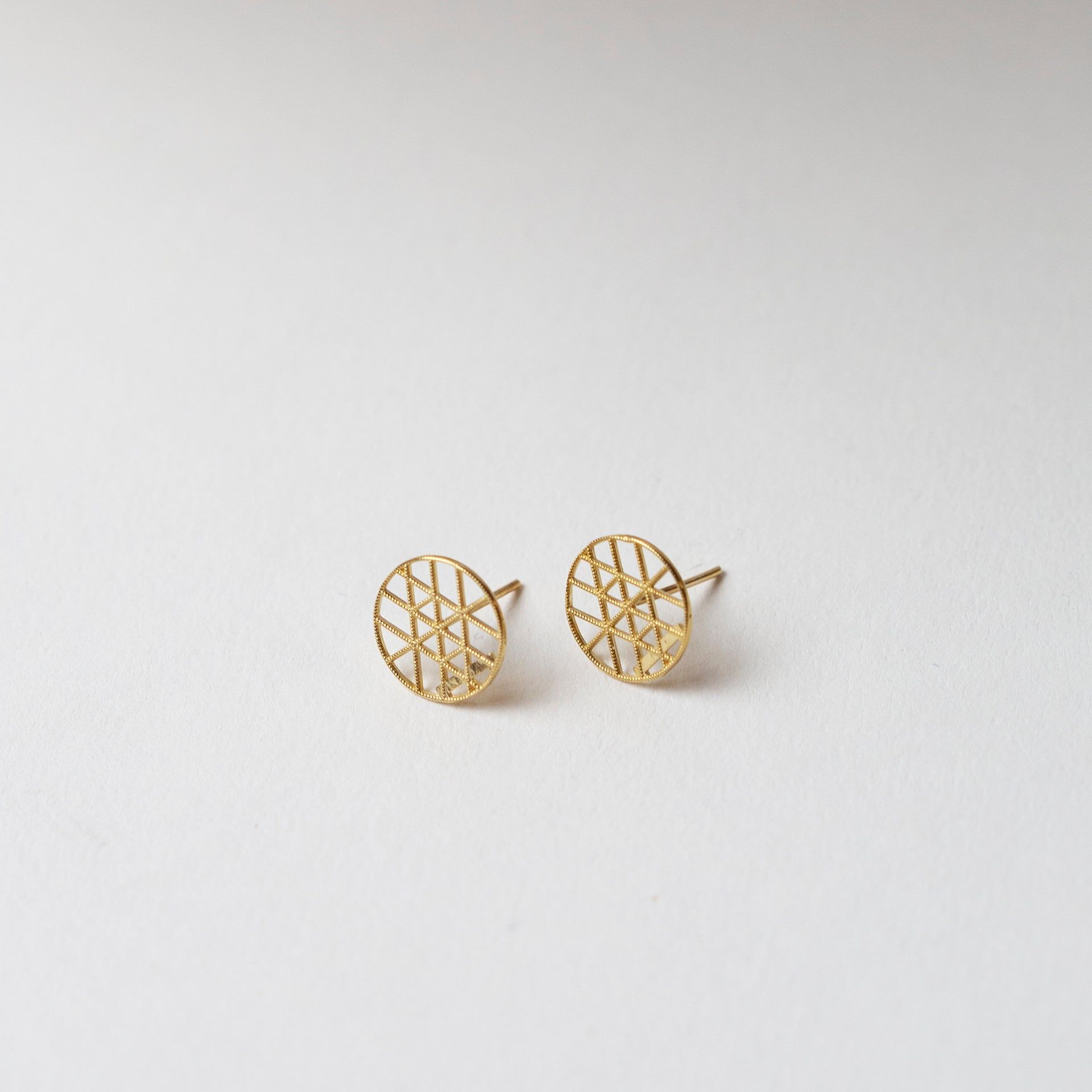 Petite Geo Disc Earrings