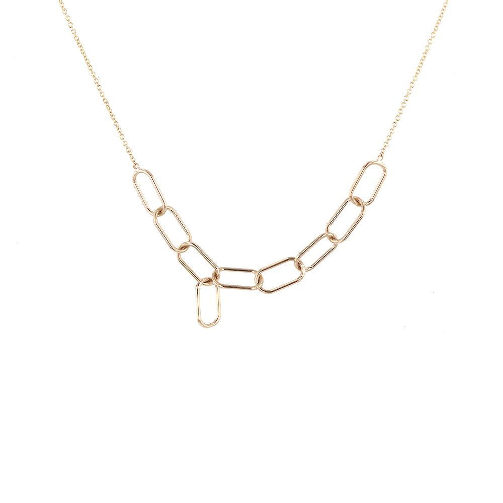 Asymmetrical Link Necklace