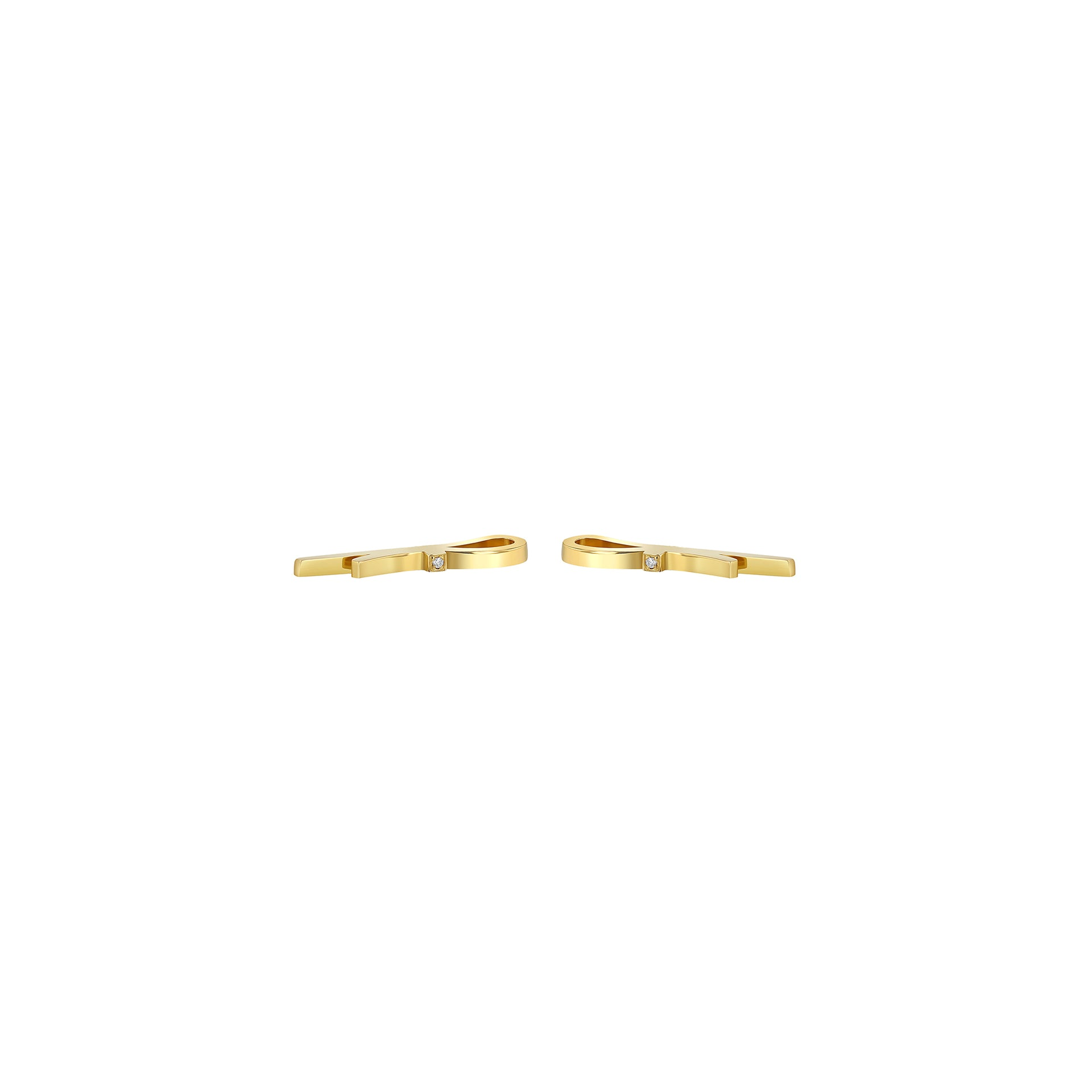 Ribbon Stud Earrings w Diamond