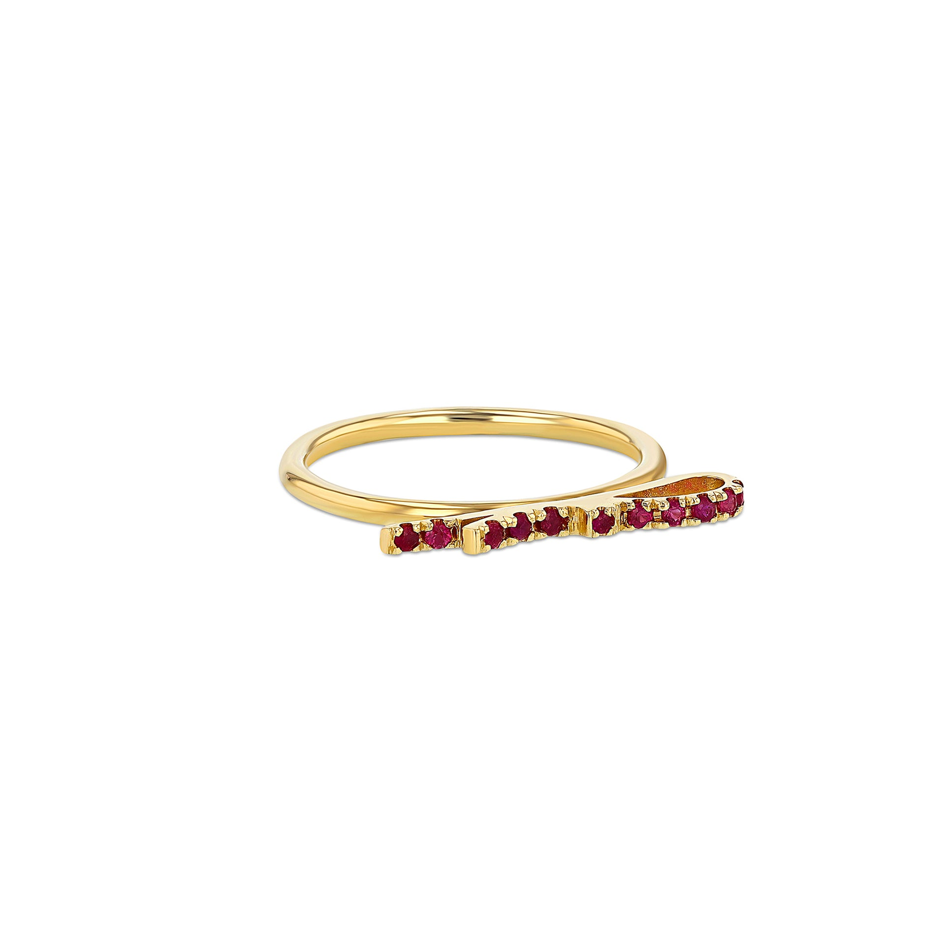 Ruby Ribbon Ring