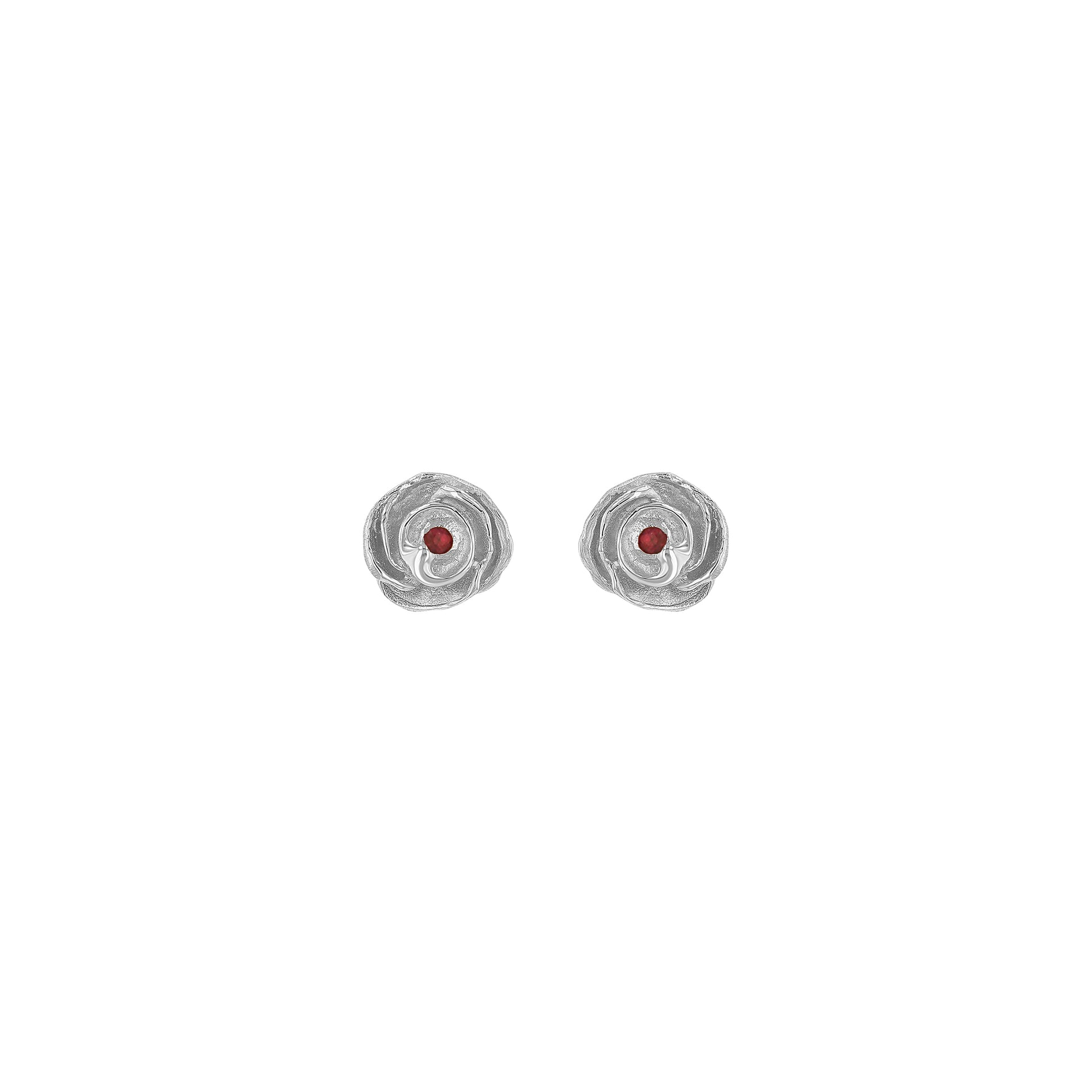 Ruby Rose Stud Earrings