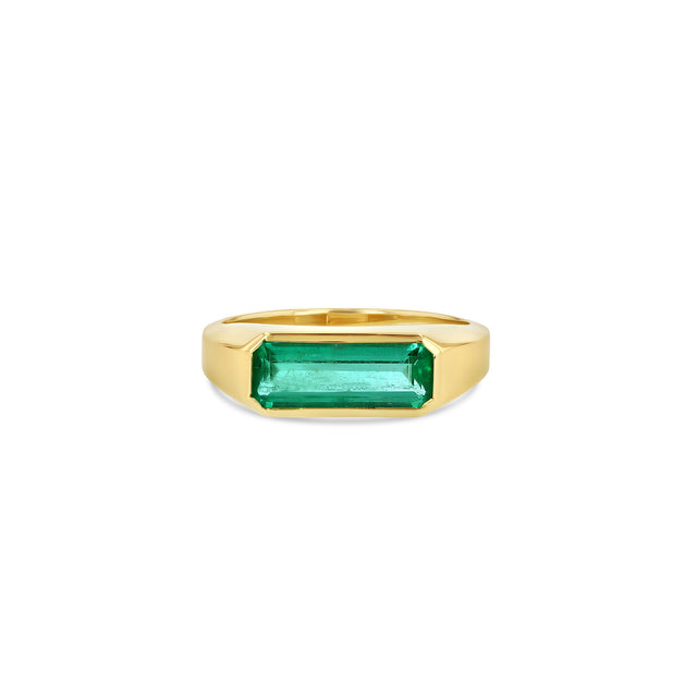 Emerald Signet Ring - Large