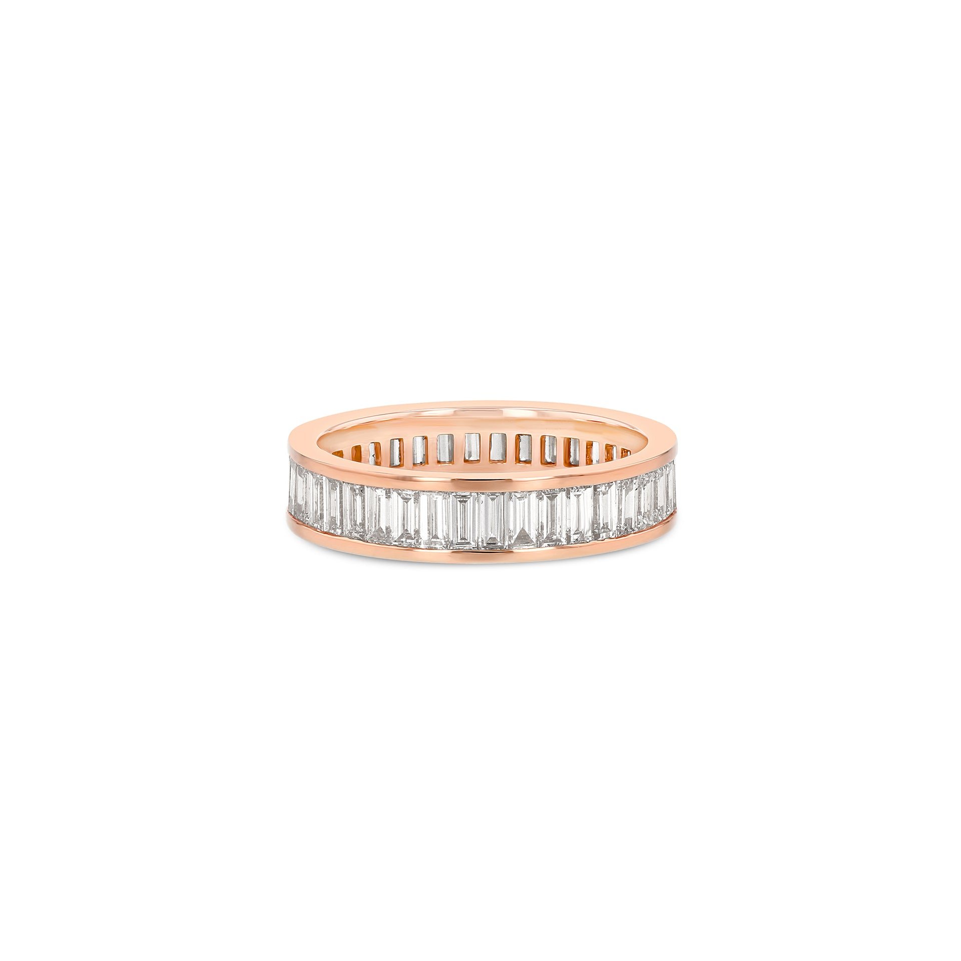 Baguette Eternity Ring - Vertical