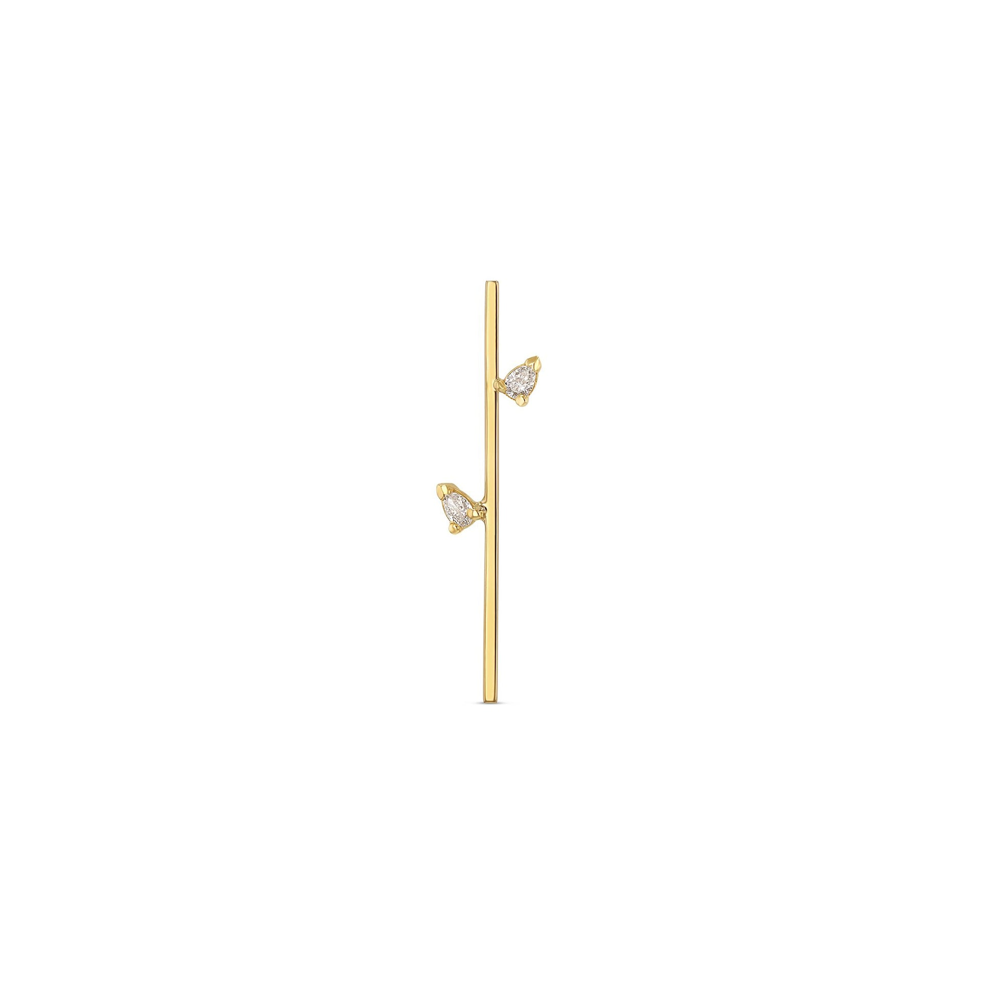 Linear Confetti Earring - 30mm
