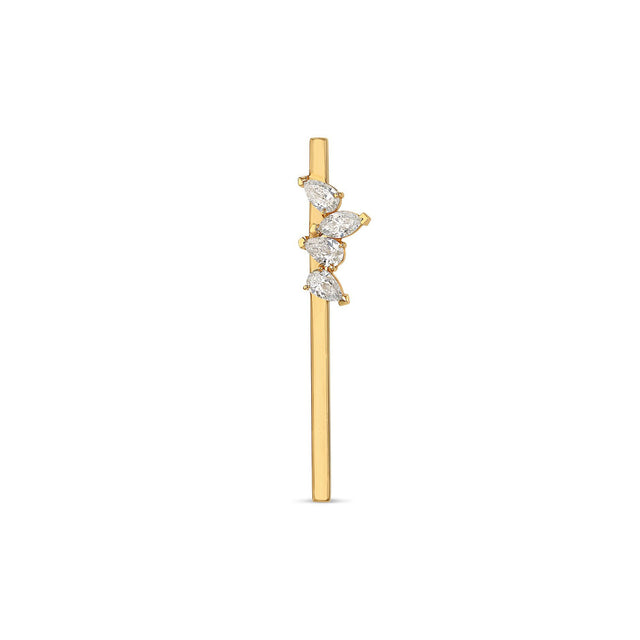 Marquise + Pear Bar Earring