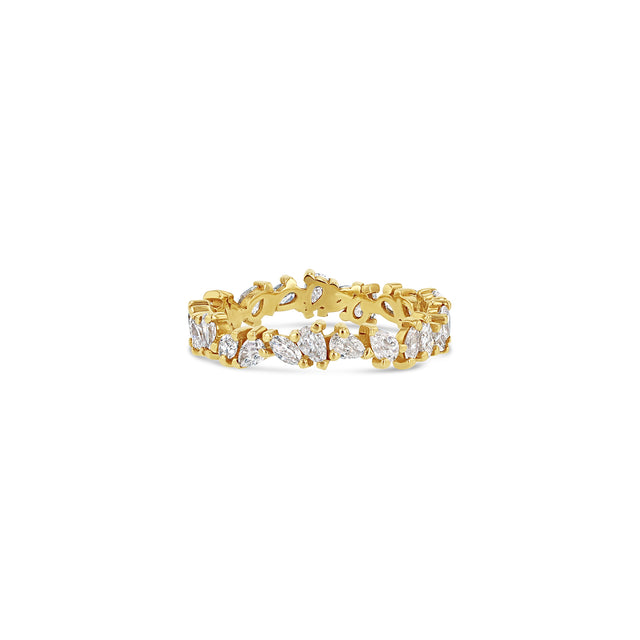 Petite Marquise + Pear Eternity Ring
