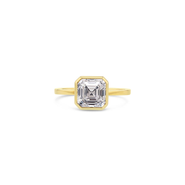 Asscher Diamond Bezel Ring