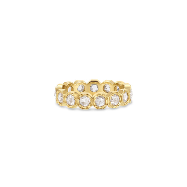 3mm Crown Bezel Diamond Eternity Ring