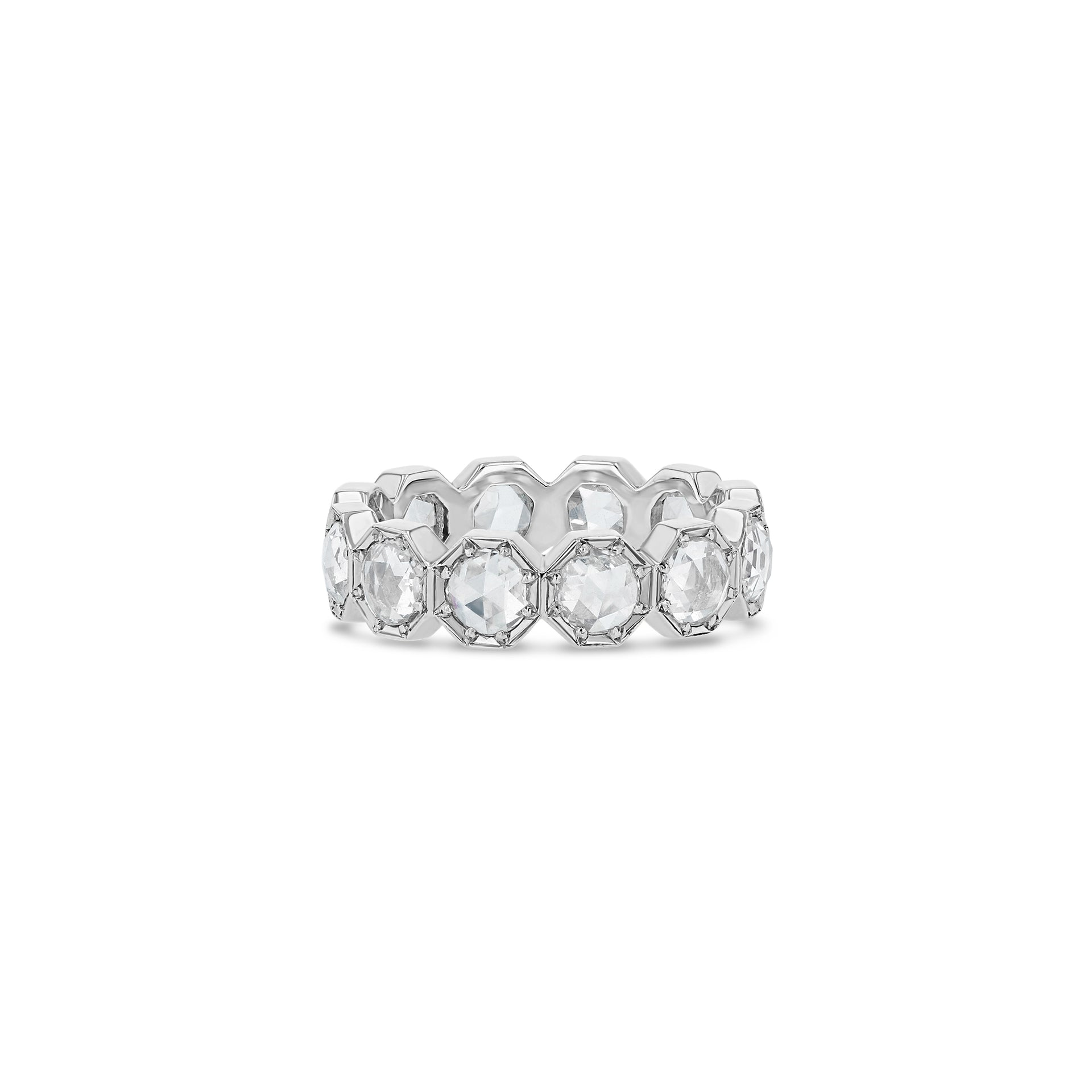 4mm Crown Bezel Diamond Eternity Ring