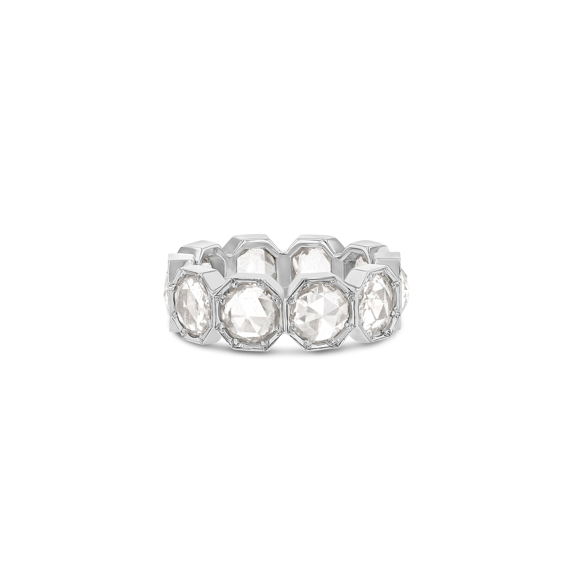 5mm Crown Bezel Diamond Eternity Ring