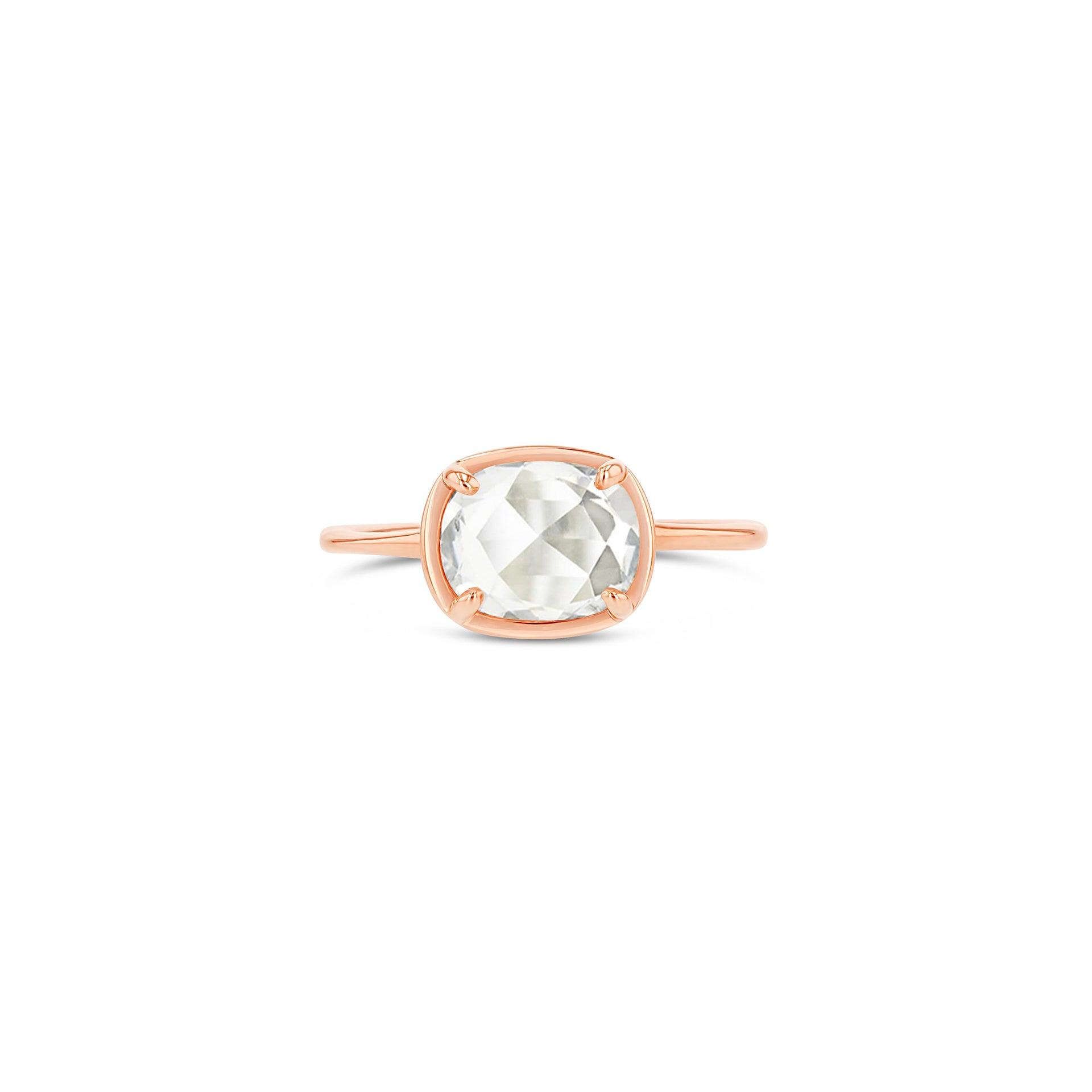 East-West Oval Rose-Cut Diamond Ring