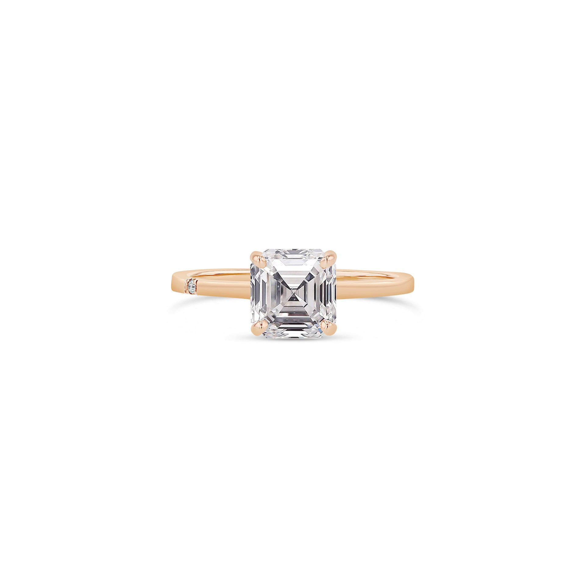 Asscher Diamond Solitaire Ring