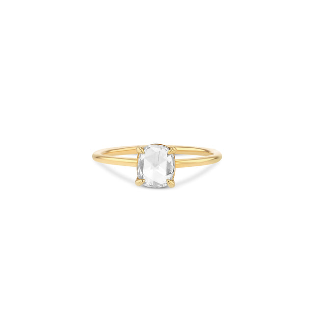 Oval Rose-Cut Diamond Solitaire Ring