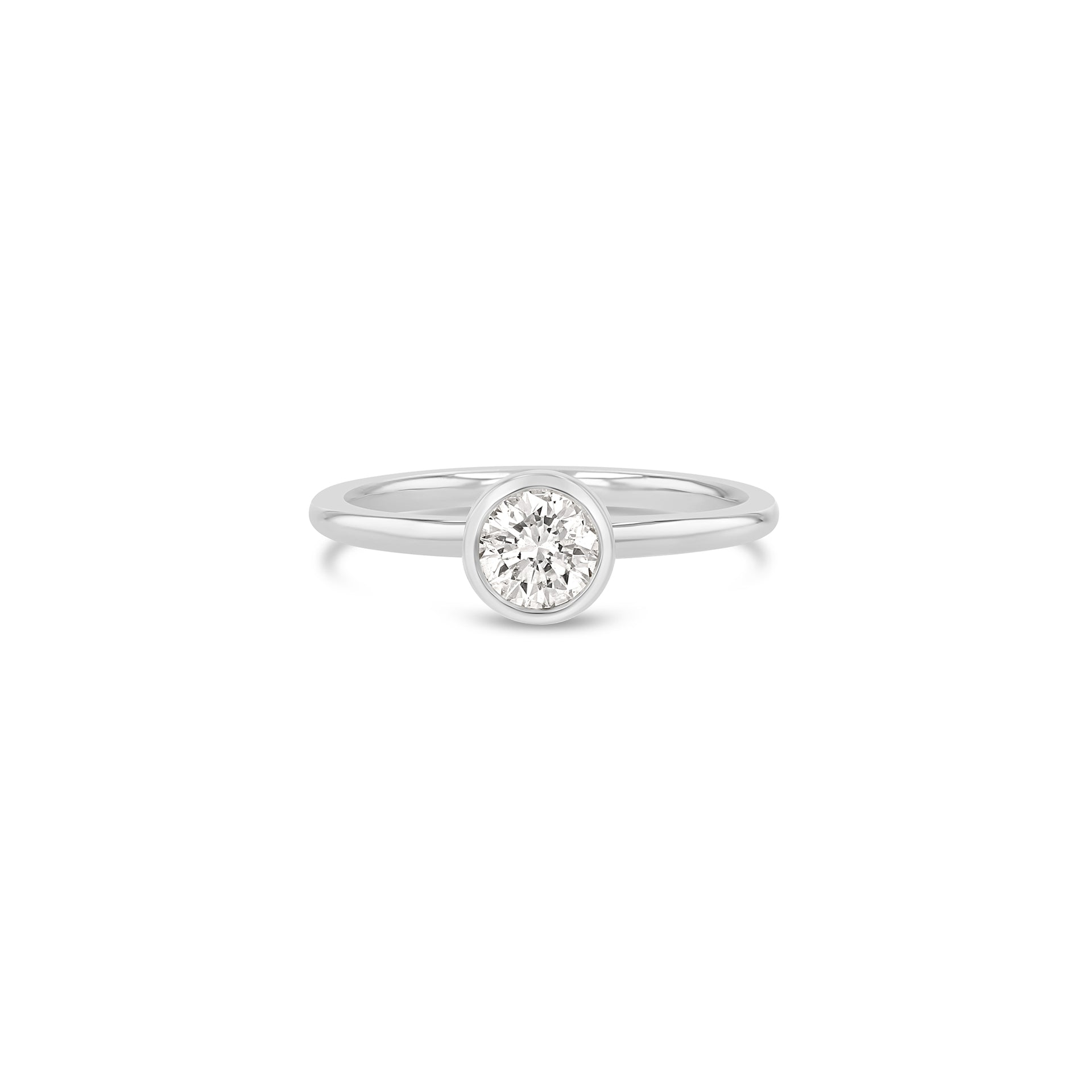 Round Diamond Bezel Ring