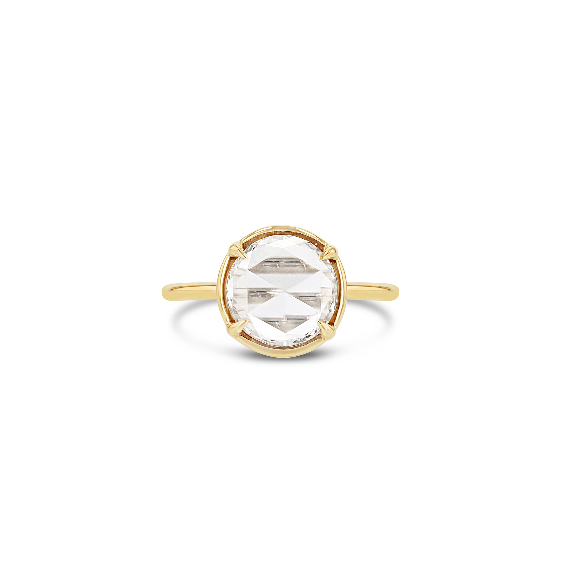 Round Rose Cut Ring - 0.81CT