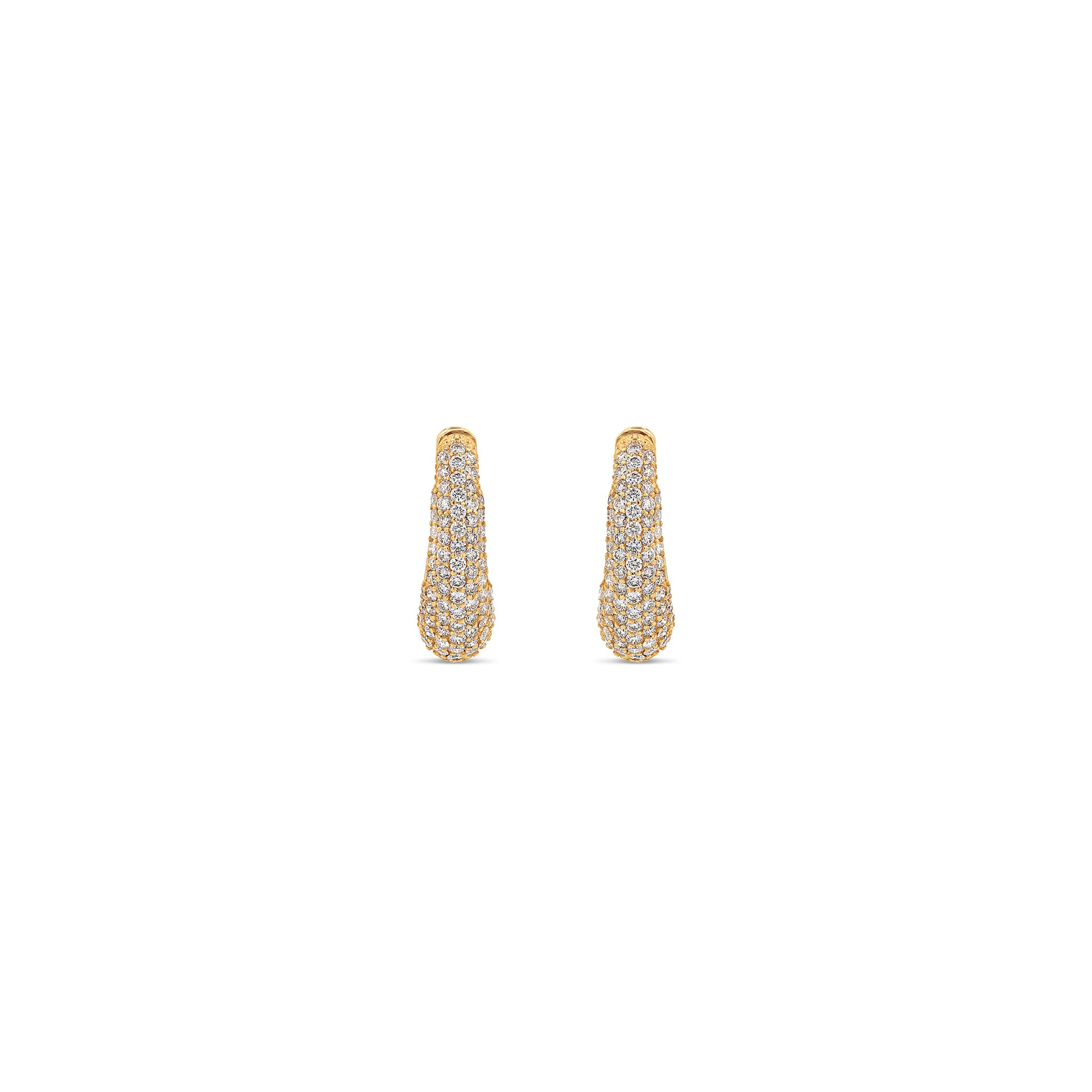 Pavé Demi Hoop Earrings