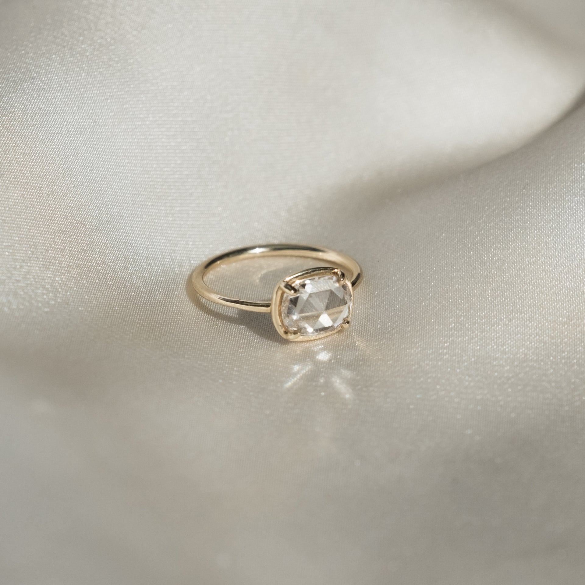 EW Oval Rose Cut Diamond Ring