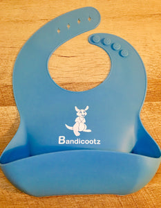 "FREE Bandicootz ® ""Original"" BLUE Soft Silicone Infant/Toddler Bib"