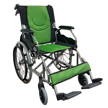 Esco Lightweight Wheelchair (Green) WCH7041LW - Wheelchair - 1