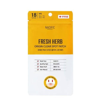 NACIFIC Fresh Herb Origin Clear Spot Patch 18pcs (10mm*9/12mm*9) - Spots & Blemishes - 1