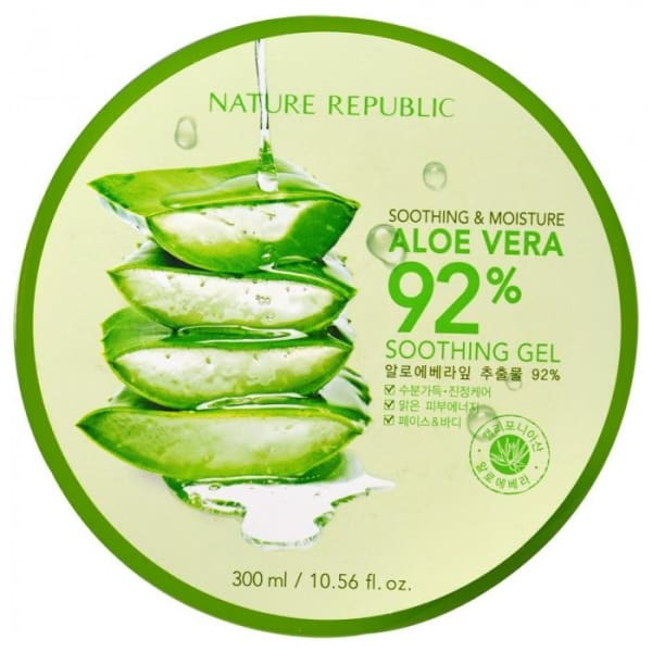 NATURE REPUBLIC Soothing & Moisture Aloe Vera 92% Soothing Gel 300ML - Moisturizers & Creams - 1