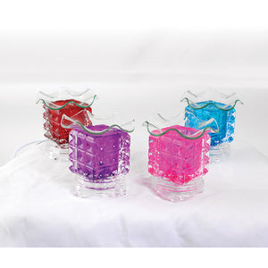 Electric Glass Oil Burner -  mystique of Aroma in Asst. colors - LSM Boutique's Fashion N Fragrances