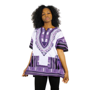 Dashiki Purple and White...stand-out design - LSM Boutique's Fashion N Fragrances