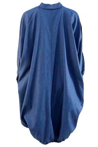 Plus Size LS Denim Dress Plus Size