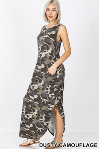 Camouflage Print Sleeveless Maxi Dress FLASH SALE! - LSM Boutique's Fashion N Fragrances