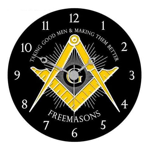 Masonic Clock...Making good men better! - LSM Boutique's Fashion N Fragrances