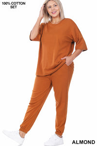 Plus Size Jogger Pants Set 1X2X3X