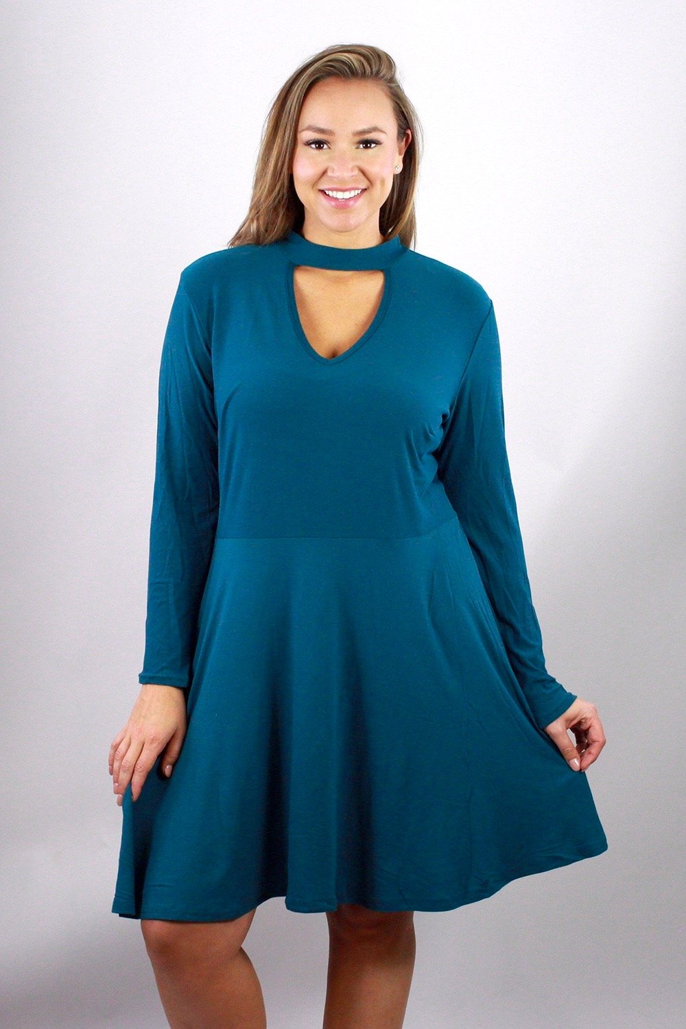 Women's Plus size Detail Fit & Flare Dress 1X2X3X - LSM Boutique's Fashion N Fragrances