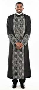 Men's Black and Silver Clergy Robe - LSM Boutique's Fashion N Fragrances