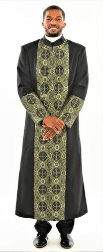 Men's Black and Gold Clergy Rob - LSM Boutique's Fashion N Fragrances