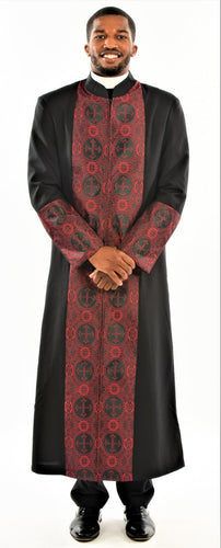 Men's Black and Red Clergy Robe - LSM Boutique's Fashion N Fragrances