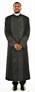 Men's Black on Black Clergy Robe - LSM Boutique's Fashion N Fragrances