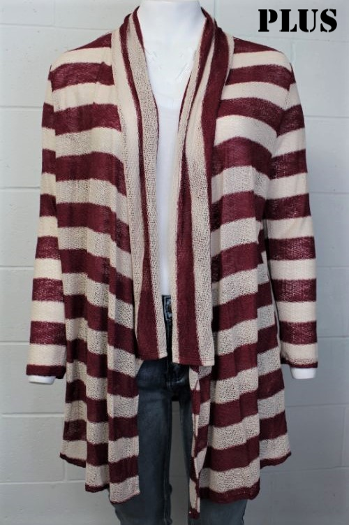 Plus Size Open Front Cardigan 1x2x3x