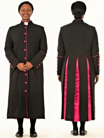 Clergy Robe for Ladies Black and Fuschia - LSM Boutique's Fashion N Fragrances