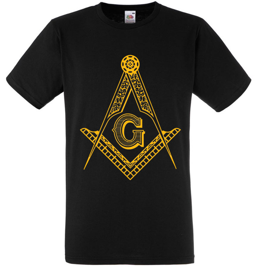 Men's Big Gold Masonic Logo T-Shirt Size 3X - LSM Boutique's Fashion N Fragrances