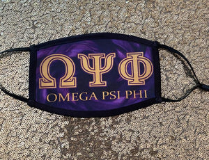 Custom Omega Psi Phi Face Mask Phase 2