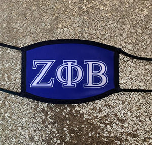 Custom Zeta Phi Beta Face mask