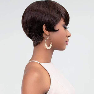 Lavish Short Sassy Virgin Human Hair Wig