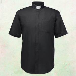 Men's Black Clergy Tab Collar Shirt  ON SALE! - LSM Boutique's Fashion N Fragrances