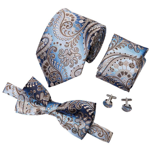 Men's Luxury Designer Silk Necktie Set - LSM Boutique's Fashion N Fragrances