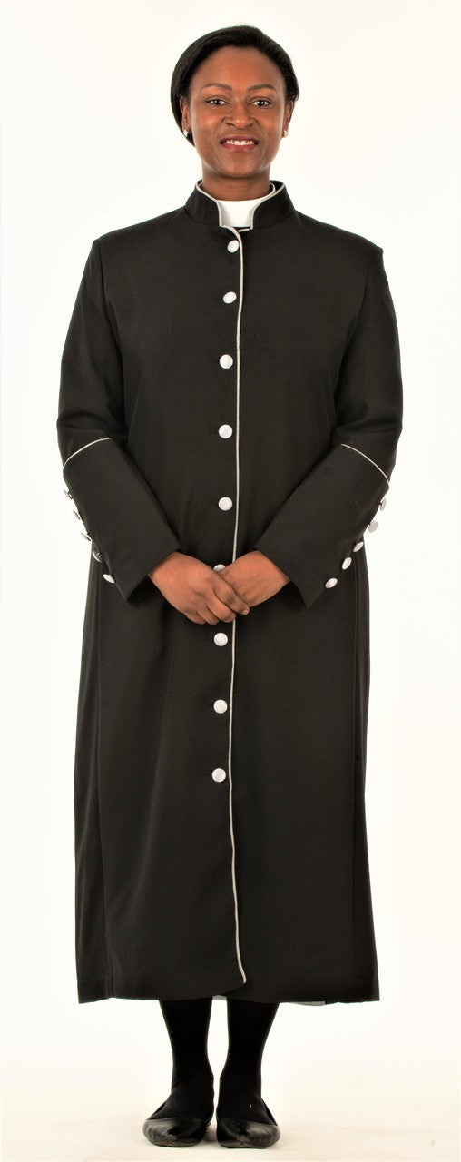 Clergy Robe for Ladies Black and Silver - LSM Boutique's Fashion N Fragrances