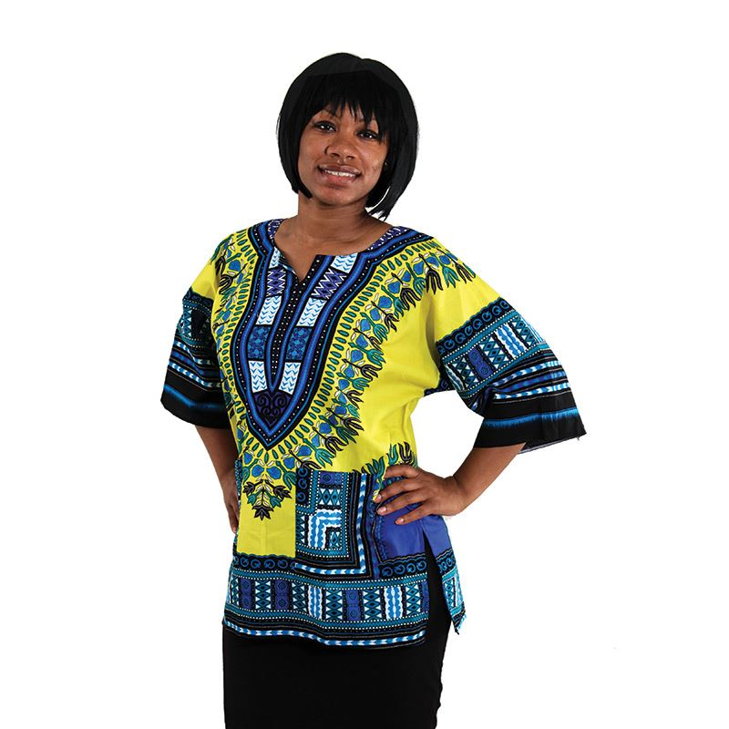 Dashiki Yellow and Blue...stand-out design - LSM Boutique's Fashion N Fragrances