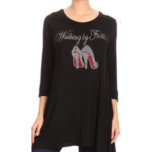 Women's Walking by Faith Rhinestones Tunic Dress - LSM Boutique's Fashion N Fragrances